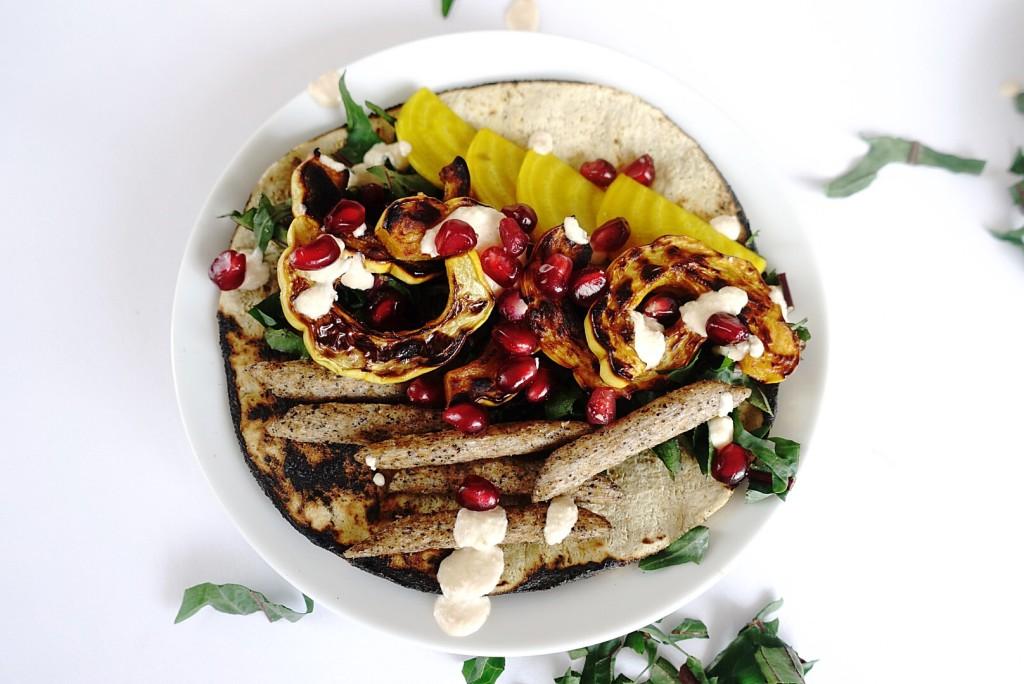 Delicata Tacos with Almond Crema