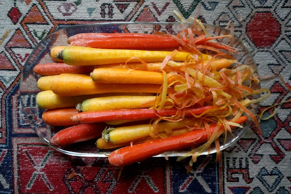 Carrot Noodle Salad with Arugula Pesto