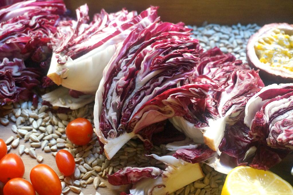 Radicchio Salad with Passion Fruit Vinaigrette