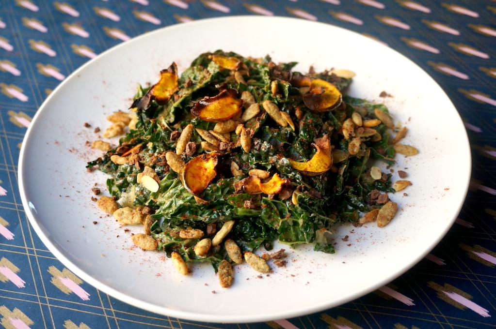 Rubbed Kale Harvest Salad