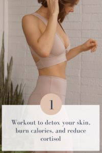 1 workout to detox skin, burn calories, and reduce cortisol #frenchgirlfitnesspan #fitspo #cardio #weightloss #fgfp
